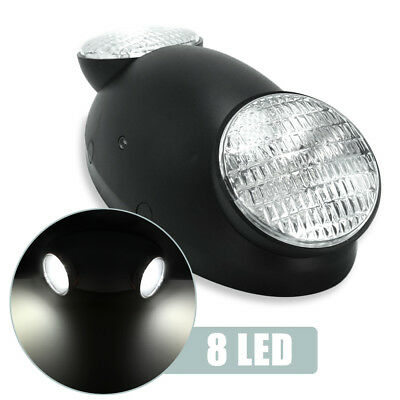 Bug Eye Head Light Black Emergency Exit LED Spot Light Standard w/ Side Lights