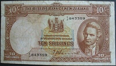 1940-55 New Zealand 10 Shillings Note
