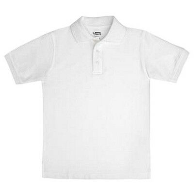 White Pique Polo Shirt School Uniform French Toast Knit Blend S/S Unisex 10 New
