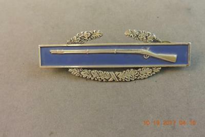 Old Sterling US Military Army Blue Enamel CIB Combat Infantry Rifle  badge