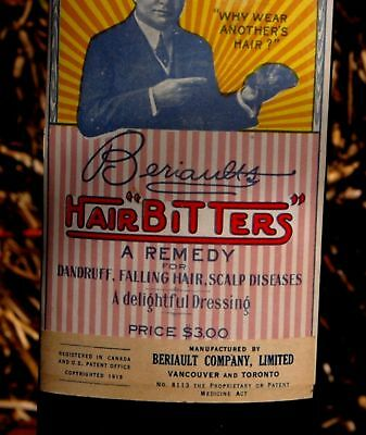 Beriault's Hair Bitters With Full Labels And Contents