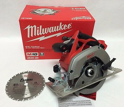 Milwaukee 2630-20 New M18 18V 18-Volt  Cordless 6-1/2-Inch Circular Saw NIB
