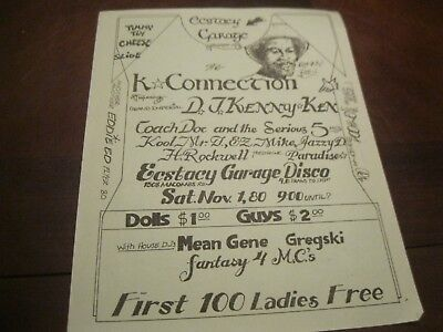 Rare Hip Hop Flyer -K+Connection D.j.kenny Ken - Mean Gene - Ez Mike - Fantasy 4
