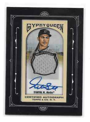 2011 Topps GYPSY QUEEN Giancarlo Mike Stanton MINI FRAMED AUTO RELIC S/N 02/25
