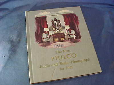 1949 PHILCO RADIO + PHONOGRAPHS Hard Cover Advertising SALES CATALOG