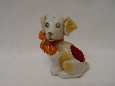 "Vintage 2"" Tall Porcelain Little Dog Pin Cushion Made In Japan"
