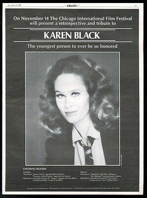 1979 Karen Black photo TV movie trade ad