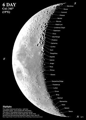 Astronomy Moon Phase Maps with CD
