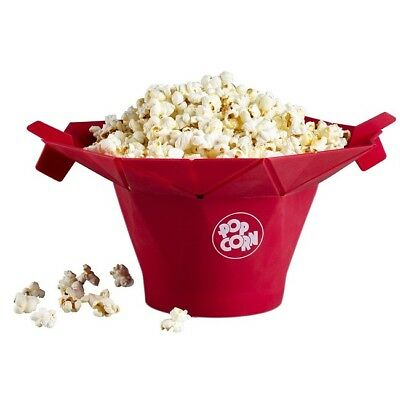 Chef'n Poptop Microwave Popcorn Reusable Maker10 cups
