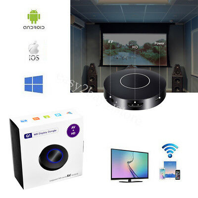 HDMI + AV RCA TV Stick Push WiFi Display Dongle Receiver DLNA Airplay Miracast
