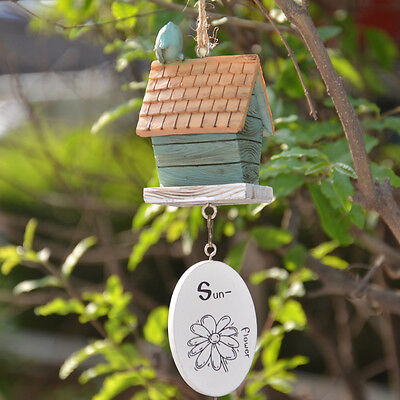 Creative Cabin Wind Chimes House Hold Door Ornaments Mini Pendant Resin Green