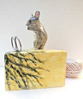 Babbacombe Pottery -- STRING DISPENSER  - Mouse on Stilton cheese Grey