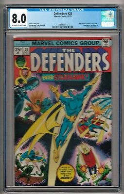 "Defenders #28 (1975) CGC 8.0 OW/W Pages Gerber - Buscema  ""Guardians of Galaxy"""