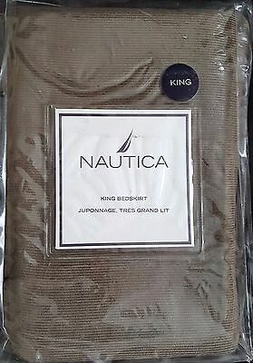 Nautica Broderick collection King Bed Skirt New