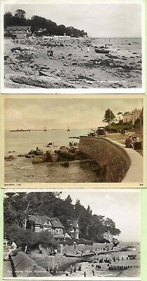 Old Postcards-SEAVIEW-SHORE PATH & SEAGROVE BAY-3 Cards-Seaview-Isle of Wight.