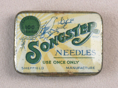 Vintage Phonograph Gramophone Needle Tin Songster 100 Trailer