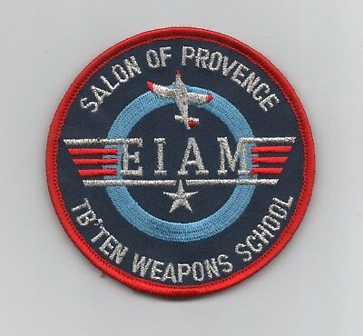 French Air Force EIAM TB10 Weapons School patch, hook and loop backing
