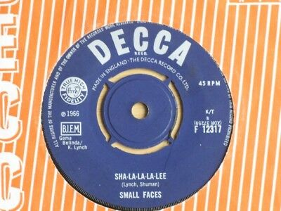 "Small Faces ""sha-La-La-La-Lee"" 1966 Mod Pop Rock Very Good + Condition Decca"