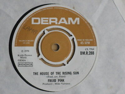 """Frijid Pink """"house Of The Rising Sun"""" 1970 Psych / Prog Very Good + Condition"""