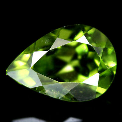 3.15 CT REAL! UNHEATED 7 X 11 mm. GREEN PAKISTAN PERIDOT PEAR