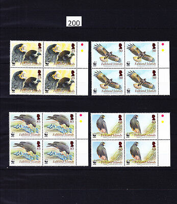 4 X Falkland Islands - Mnh - Wwf - Birds - Eagle