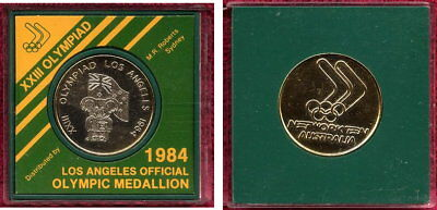 1984 Los Angeles Olympic Medallion Cased