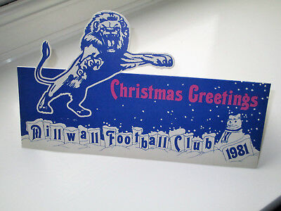 Millwall Fc 1981 Pop-Up Christmas Card Unused Xmas