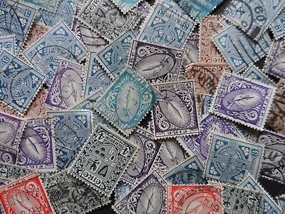 approx 100 old irish stamps all unchecked for watermarks see photos