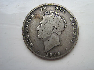 George IV shilling Sterling Silver coin 1826 (191 years old)