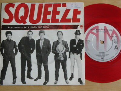 """Squeeze """"pulling Mussels"""" 1980 Rock New Wave Very Good + Condition Red Vinyl"""