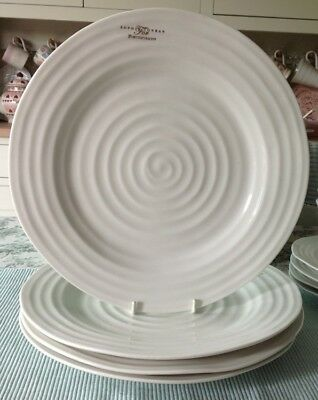 "Sophie Conran For Portmeirion 4 X 11"" Dinner Plates White New"