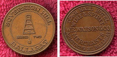 Town Hall Hotel Sovereign Hill Token