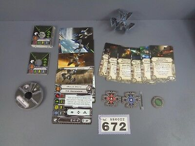 Wargaming Star Wars X Wing Clearance Tie Defender Lot 672