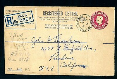1939  Hull Jameson Street  to USA  Registered Cover   (O1418)