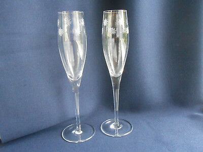 TIFFANY Champagne Flutes Boxed