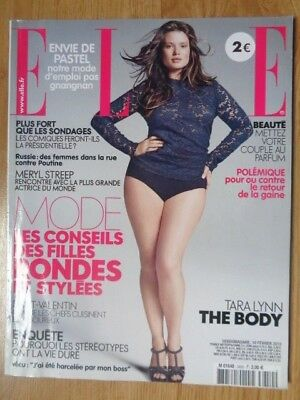 MAGAZINE ELLE : n°3450 du 10 Février 2012 / TARA LYNN - THE BODY