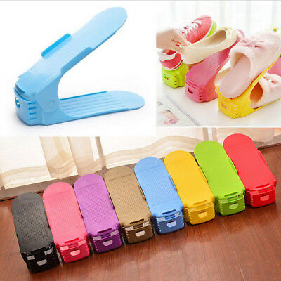 Creative Plastic Shoes Rack Organizer Space - Saving Storage Adjustable Durable