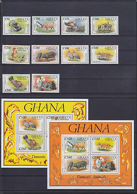 055031 Vögel Birds ... Ghana 1894-1903 + Block 237/38 ** MNH Year 1993