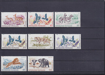 055042 Vögel Birds ... Togo 598-605 ** MNH Year 1967