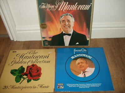 Vintage Bundle of Mantovani Records inc Readers Digest Magic Of Vinyl Boxset