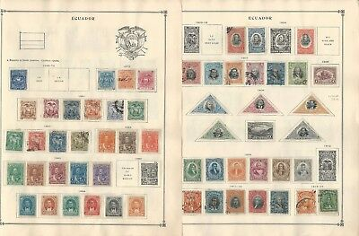 Ecuador Collection 1865 to 1940 on 10 Scott International Pages
