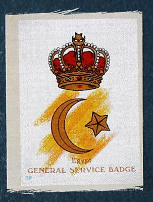 WW1 silk colonial military badge General Service Badge, Egypt  #39