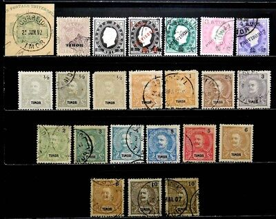 Timor, Portugal: 1885-1903 Classic Era Stamp Collection
