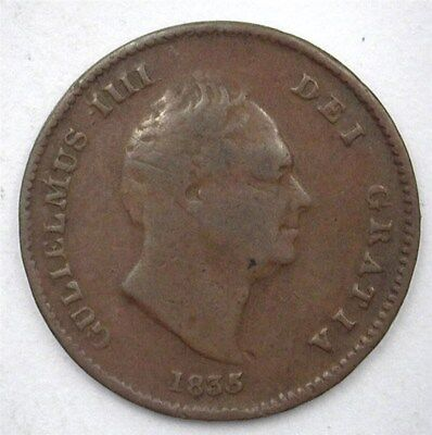 Great Britain 1835 1/3 Farthing  Km#721  Choice Very Fine
