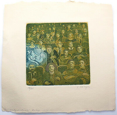 Tony Canger Early Matinee Signed Vintage 1984 Limited Edition Etching Print