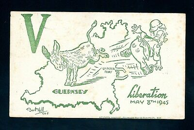 Channel Islands  1945  Victory Comic Postcard  (Some Foxing)    (O1436)