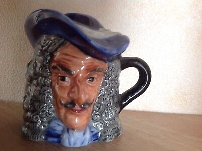 Captain Hook,  Miniature Character Toby Jug, Vintage 1982 Collectable