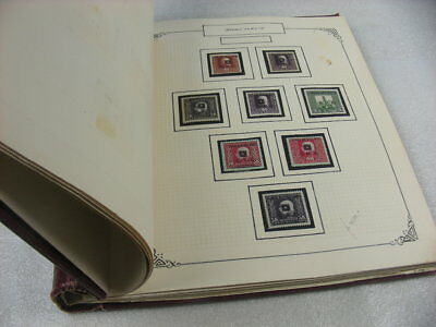 YUGOSLAVIA, Old time Stamp Collection hinged on pages(springback binder, aged)