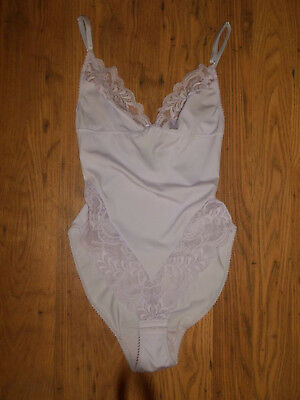 Vintage Style Soft Stretchy Nylon Lacy Bodyshaper Teddie Playsuit 36""