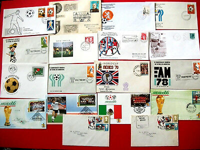 18 Commemorative Football First Day Covers    1973-1978